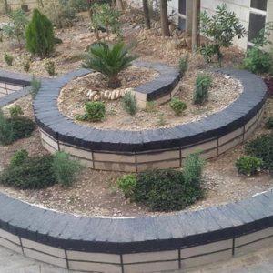 طراحی باغچه ای متفاوت به سبک حلزون